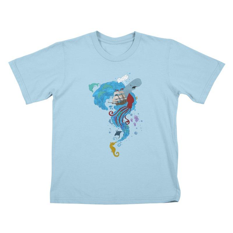 Seaside Kids T-Shirt by Dannomyte's Artist Shop