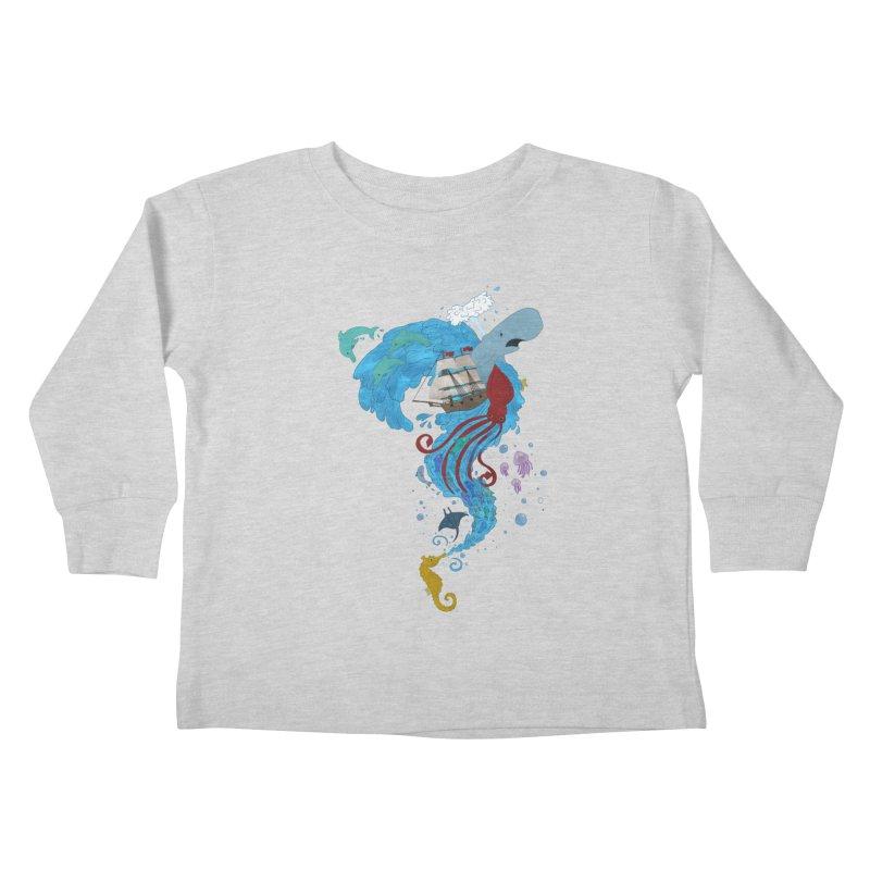 Seaside Kids Toddler Longsleeve T-Shirt by Dannomyte's Artist Shop