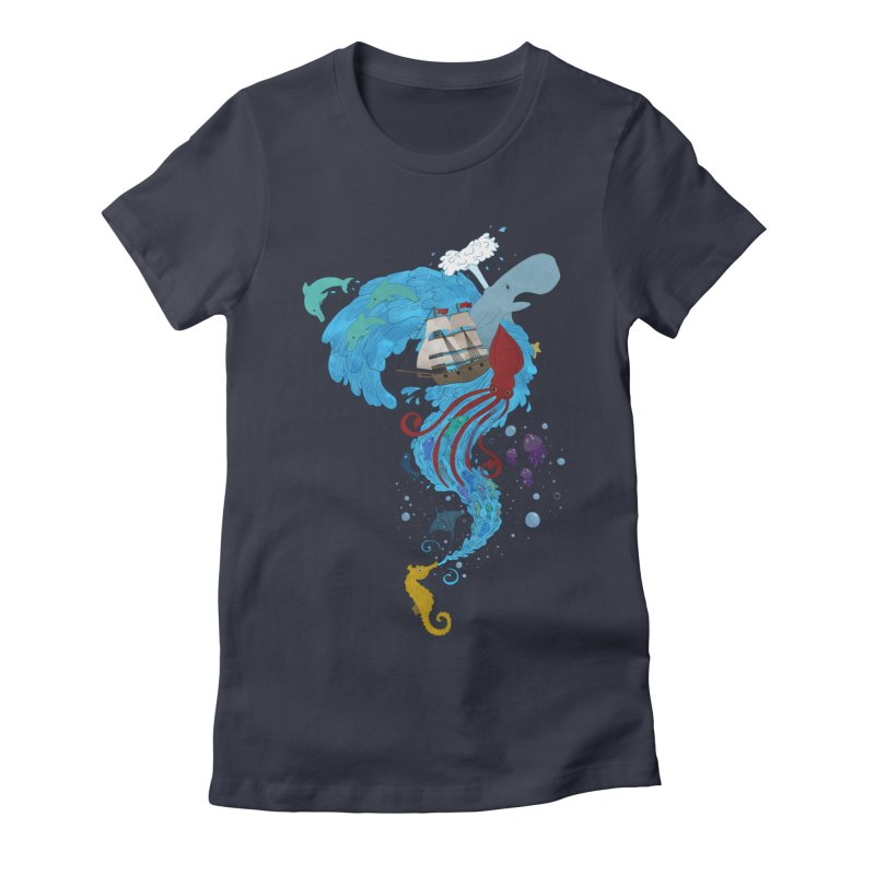 Seaside Women's Fitted T-Shirt by Dannomyte's Artist Shop