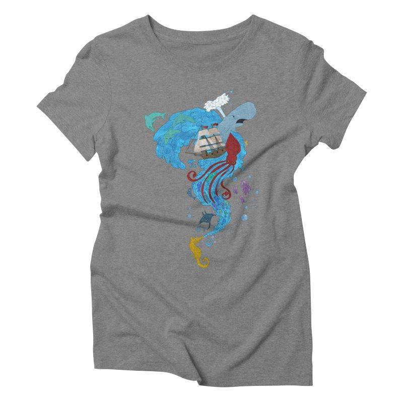 Seaside Women's Triblend T-Shirt by Dannomyte's Artist Shop