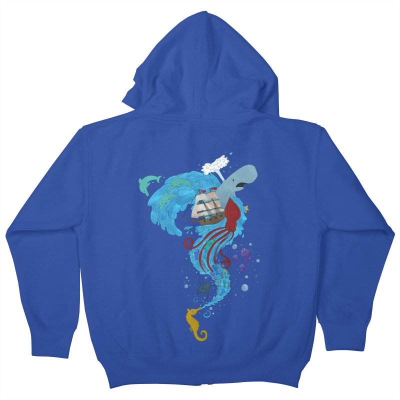 Seaside Kids Zip-Up Hoody by Dannomyte's Artist Shop