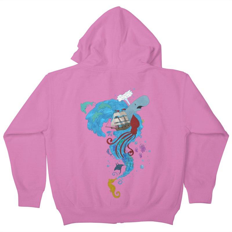 Seaside Kids Zip-Up Hoody by Dannomyte's Artist Shop