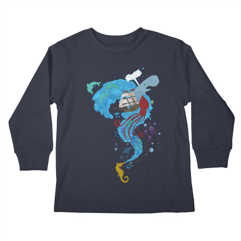 Seaside Kids Longsleeve T-Shirt by Dannomyte's Artist Shop