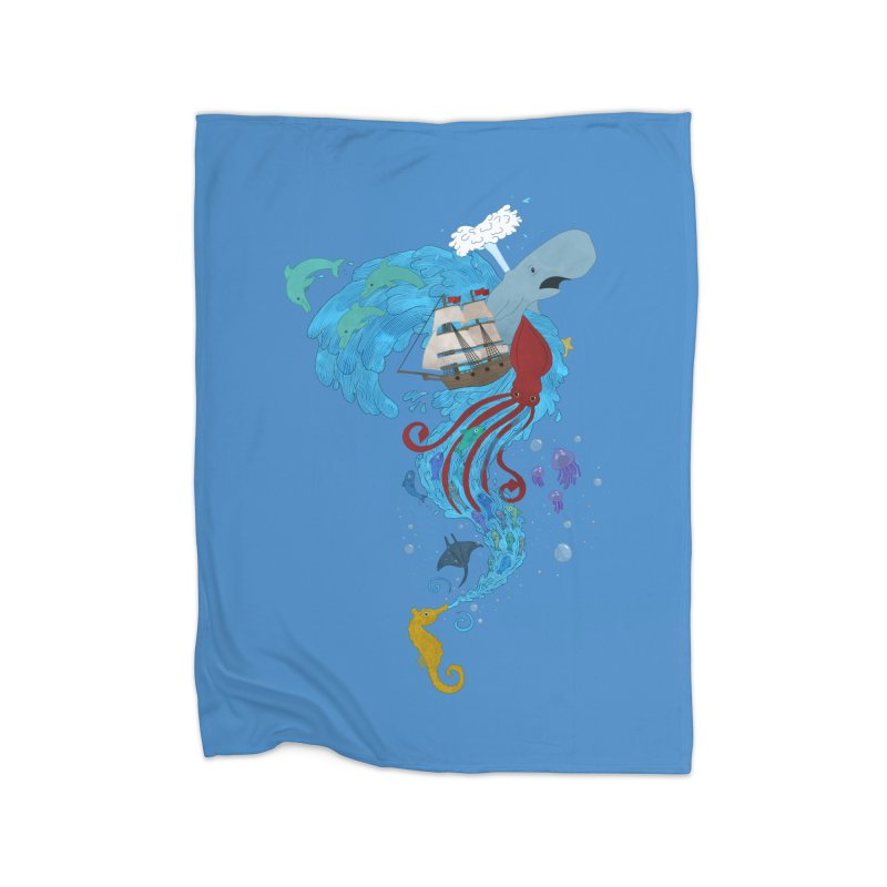 Seaside Home Blanket by Dannomyte's Artist Shop