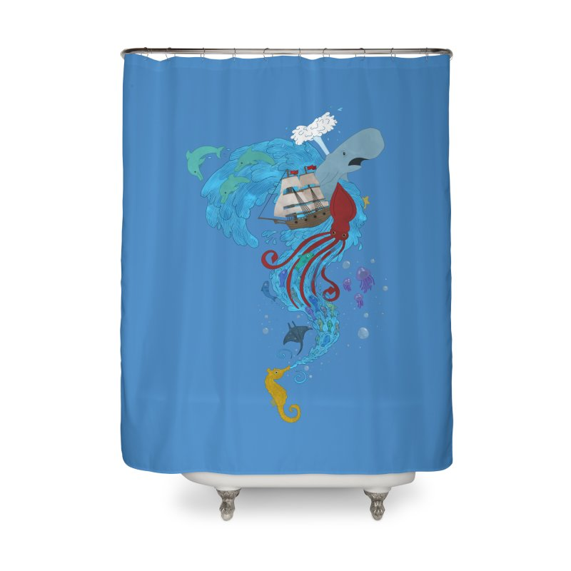 Seaside Home Shower Curtain by Dannomyte's Artist Shop