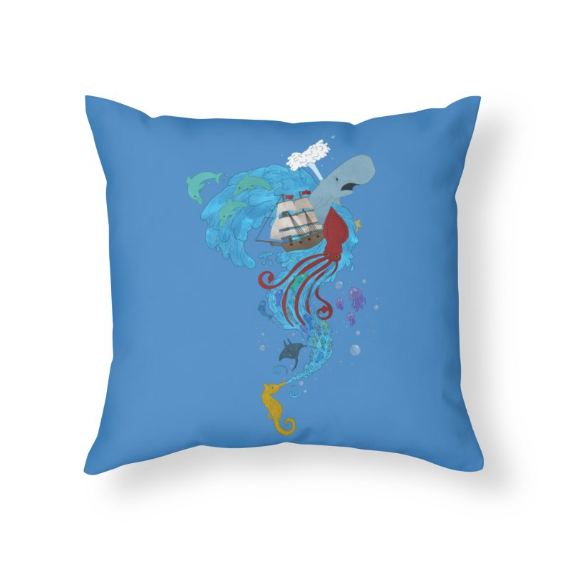 Seaside Home Throw Pillow by Dannomyte's Artist Shop