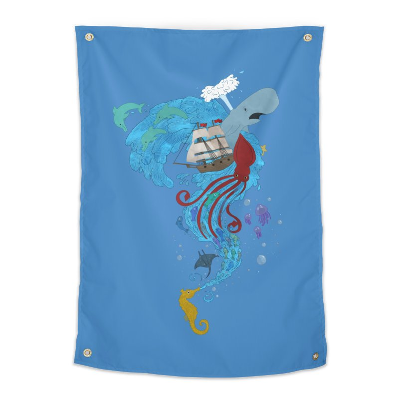 Seaside Home Tapestry by Dannomyte's Artist Shop