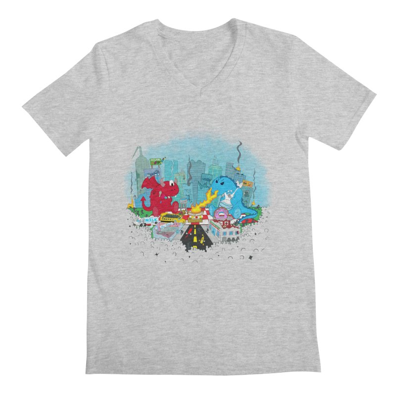 Monster Picnic Men's V-Neck by Dannomyte's Artist Shop
