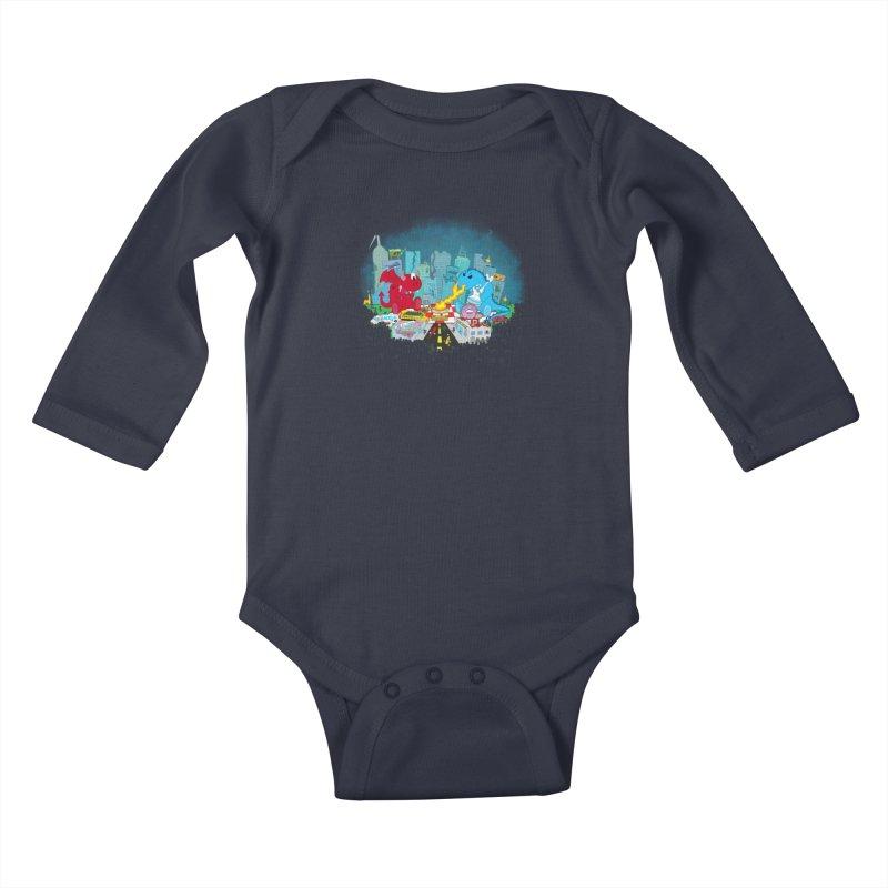 Monster Picnic Kids Baby Longsleeve Bodysuit by Dannomyte's Artist Shop