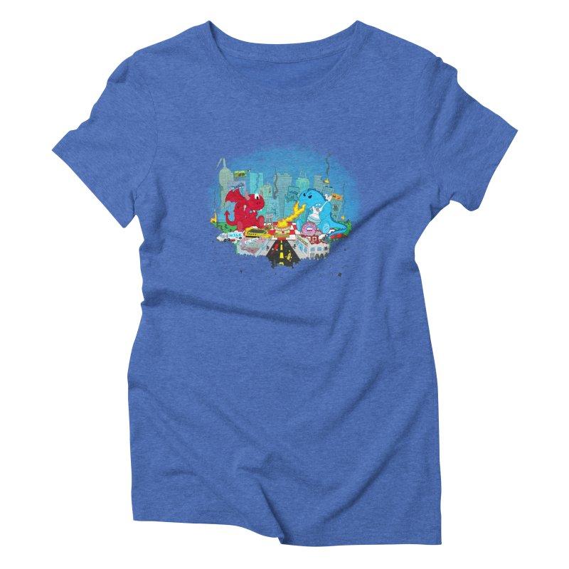 Monster Picnic Women's Triblend T-Shirt by Dannomyte's Artist Shop