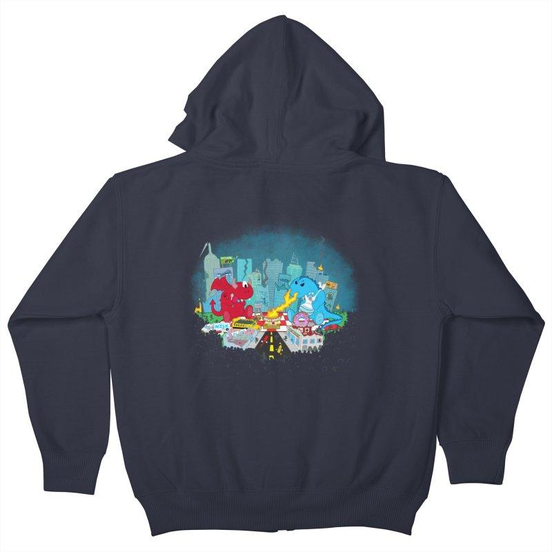 Monster Picnic Kids Zip-Up Hoody by Dannomyte's Artist Shop