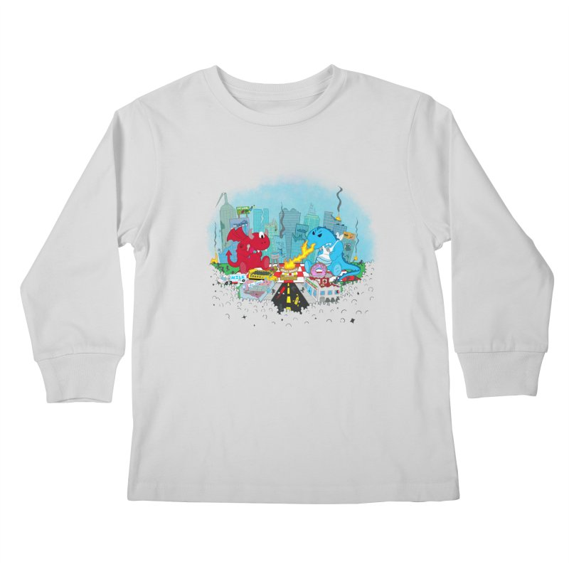 Monster Picnic Kids Longsleeve T-Shirt by Dannomyte's Artist Shop
