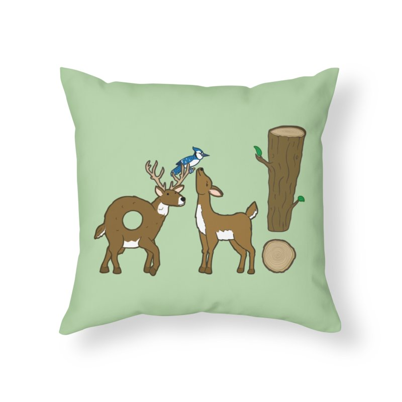 Oh! Deer. Home Throw Pillow by Dannomyte's Artist Shop