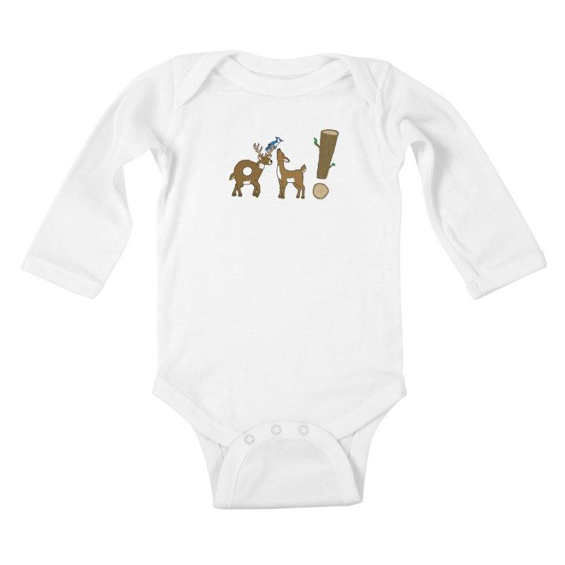 Oh! Deer. Kids Baby Longsleeve Bodysuit by Dannomyte's Artist Shop