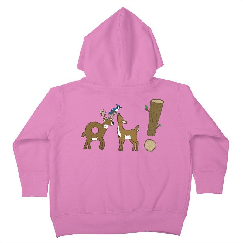 Oh! Deer. Kids Toddler Zip-Up Hoody by Dannomyte's Artist Shop