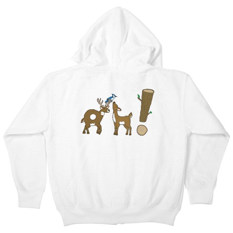 Oh! Deer. Kids Zip-Up Hoody by Dannomyte's Artist Shop
