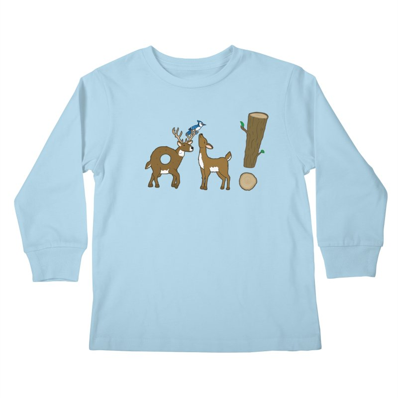 Oh! Deer. Kids Longsleeve T-Shirt by Dannomyte's Artist Shop