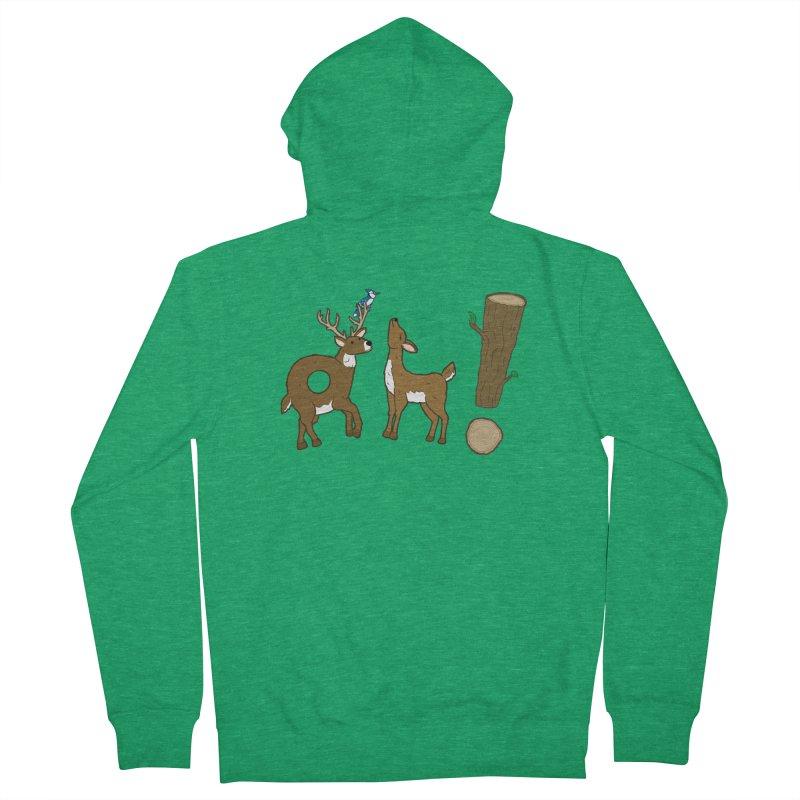 Oh! Deer. Men's Zip-Up Hoody by Dannomyte's Artist Shop