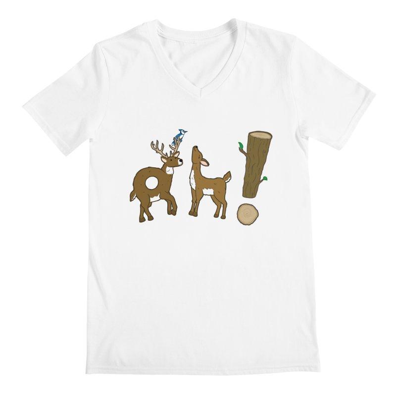 Oh! Deer. Men's V-Neck by Dannomyte's Artist Shop
