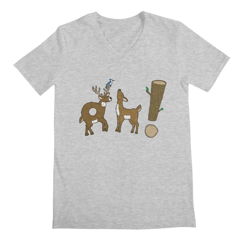 Oh! Deer. Men's V-Neck by Dannomyte's Artist Shop