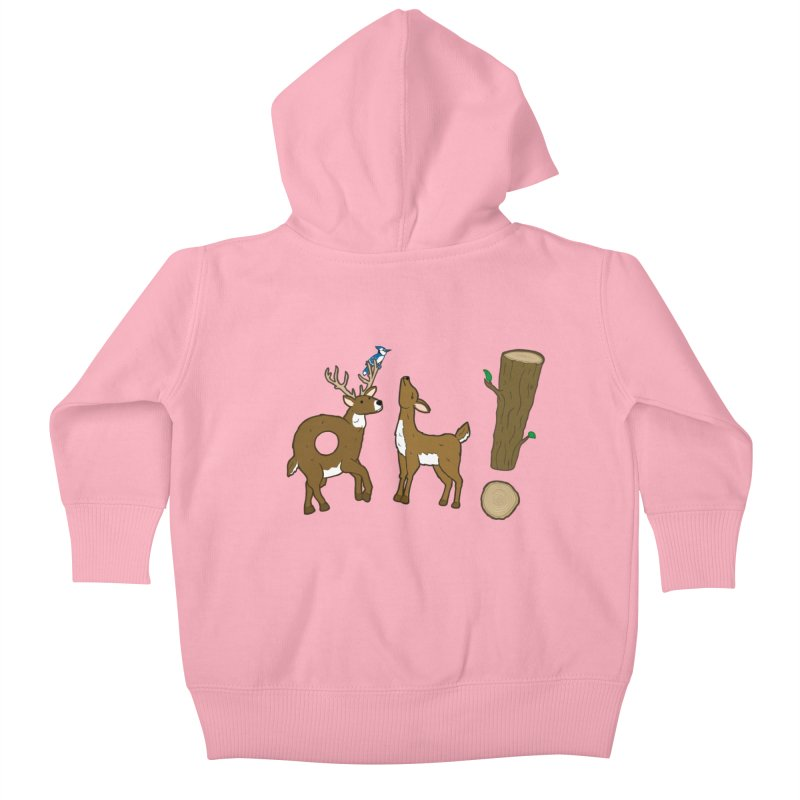 Oh! Deer. Kids Baby Zip-Up Hoody by Dannomyte's Artist Shop