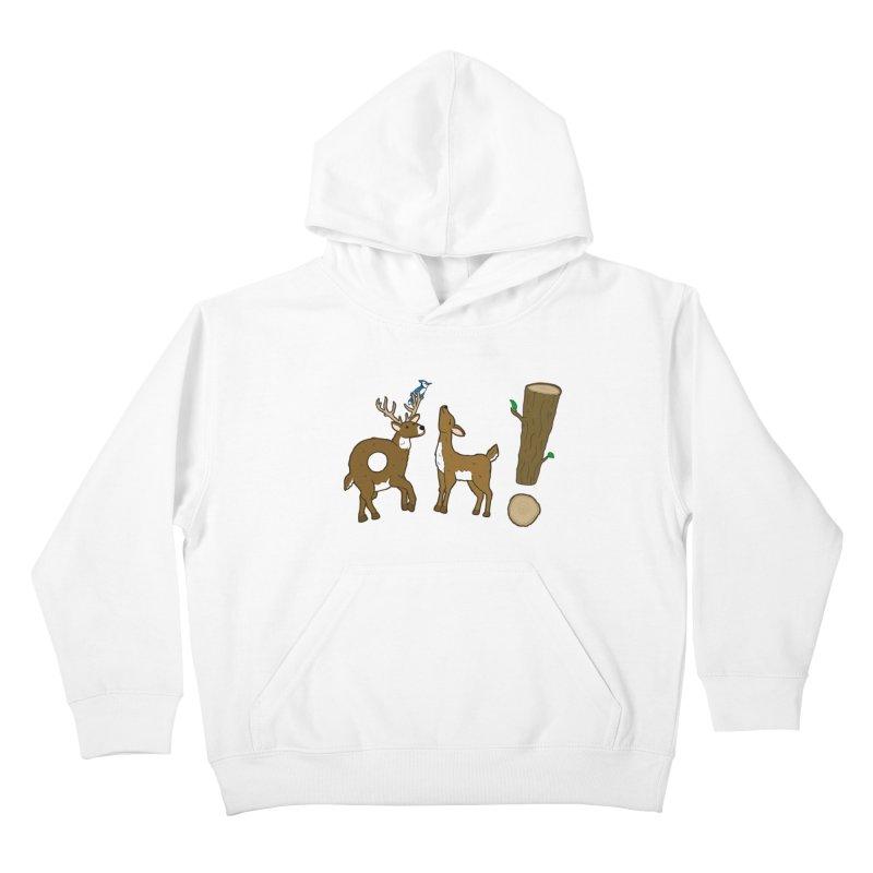 Oh! Deer. Kids Pullover Hoody by Dannomyte's Artist Shop