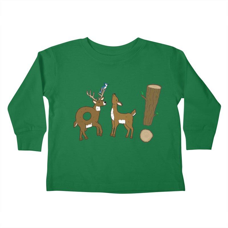 Oh! Deer. Kids Toddler Longsleeve T-Shirt by Dannomyte's Artist Shop