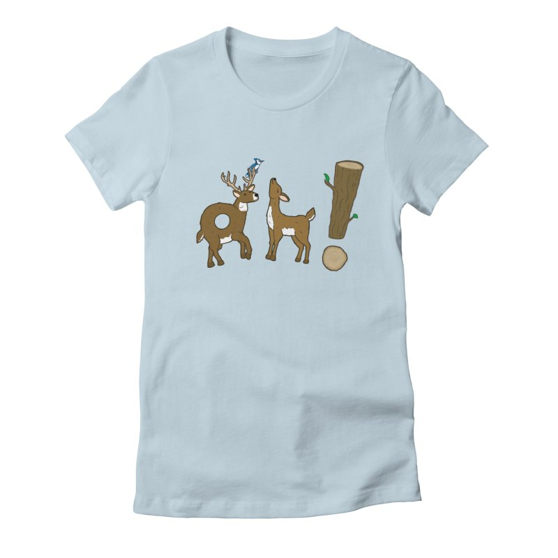 Oh! Deer. Women's Fitted T-Shirt by Dannomyte's Artist Shop