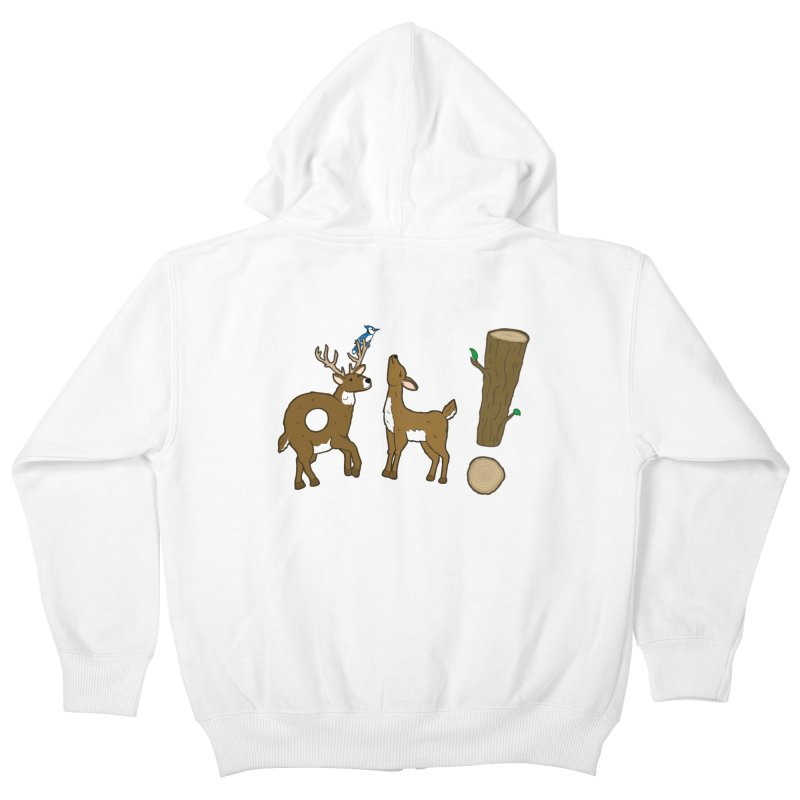 Oh! Deer. Kids Zip-Up Hoody by Dannomyte's Artist Shop