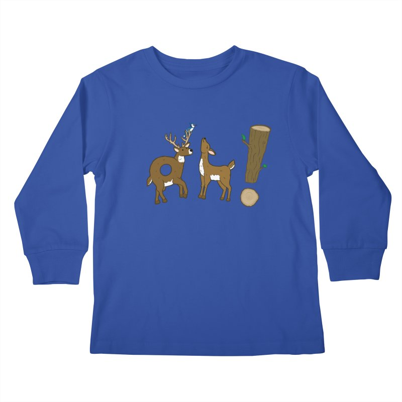 Oh! Deer. Kids Longsleeve T-Shirt by Dannomyte's Artist Shop