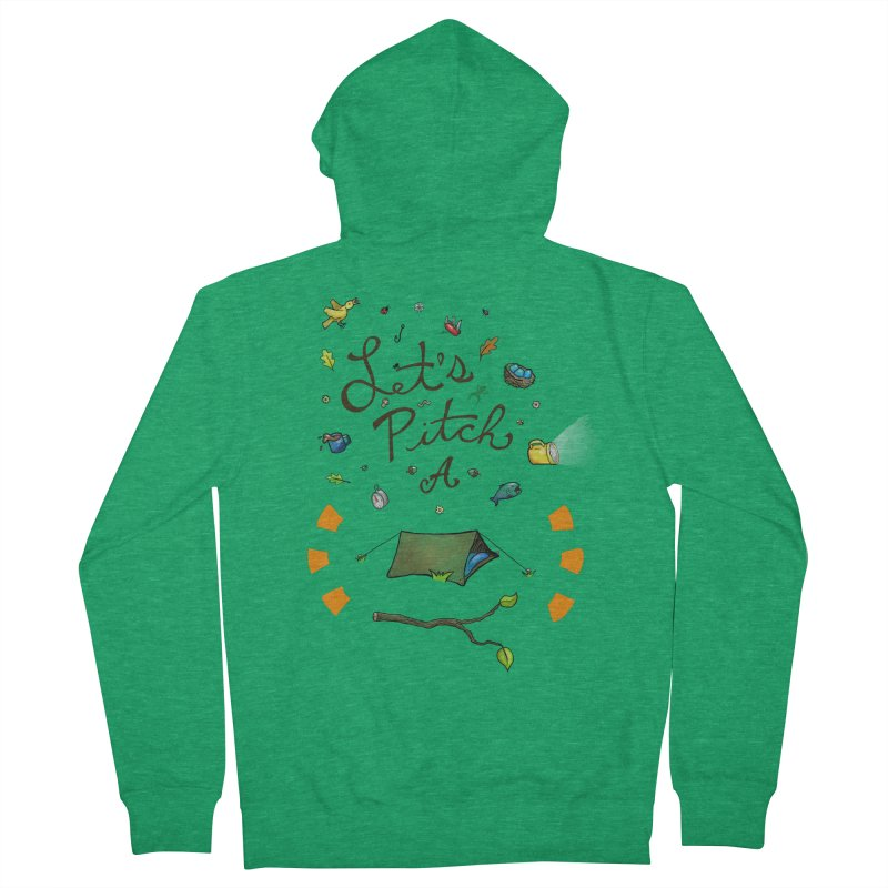 Let's Pitch A Tent Men's Zip-Up Hoody by Dannomyte's Artist Shop