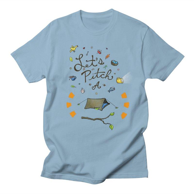 Let's Pitch A Tent Men's T-Shirt by Dannomyte's Artist Shop