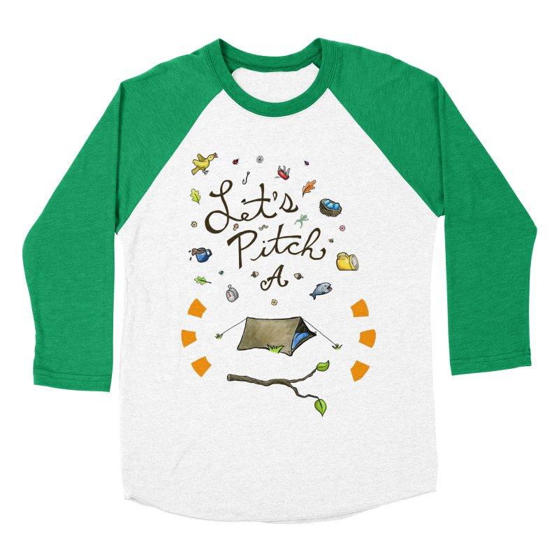 Let's Pitch A Tent Women's Baseball Triblend T-Shirt by Dannomyte's Artist Shop