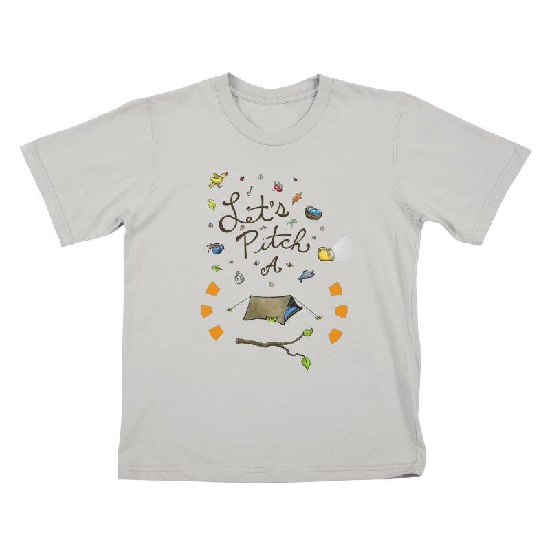 Let's Pitch A Tent Kids T-shirt by Dannomyte's Artist Shop