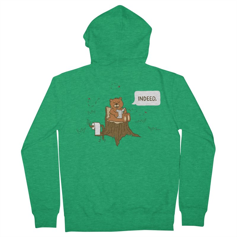Bear Business Men's Zip-Up Hoody by Dannomyte's Artist Shop