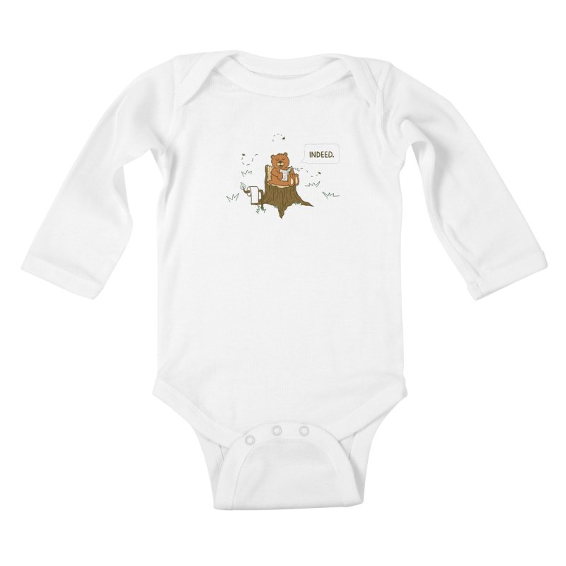 Bear Business Kids Baby Longsleeve Bodysuit by Dannomyte's Artist Shop
