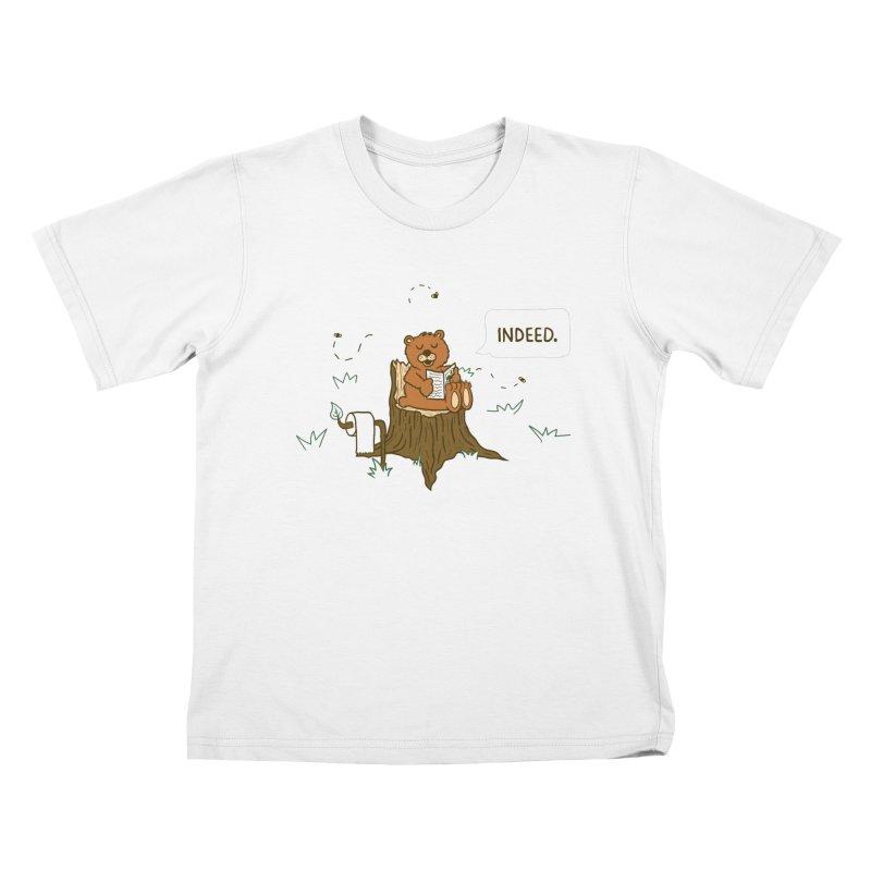 Bear Business Kids T-Shirt by Dannomyte's Artist Shop