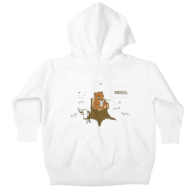 Bear Business Kids Baby Zip-Up Hoody by Dannomyte's Artist Shop
