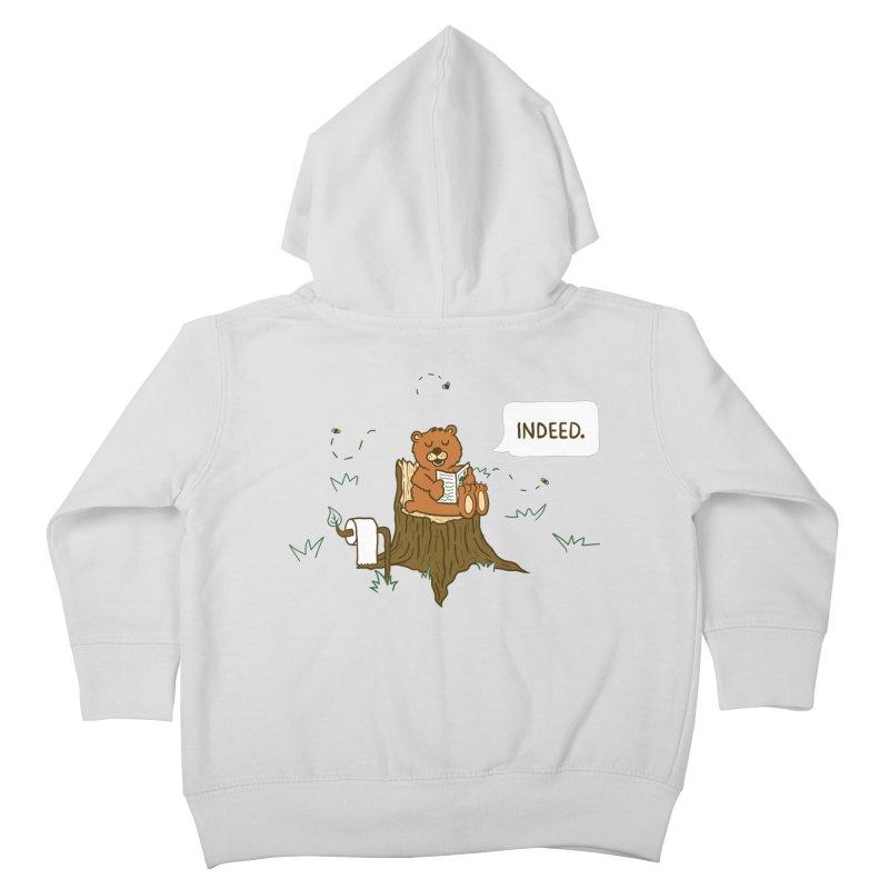 Bear Business Kids Toddler Zip-Up Hoody by Dannomyte's Artist Shop