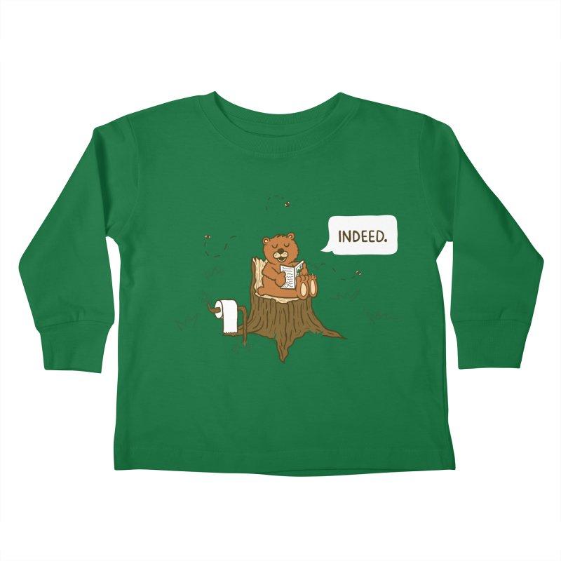 Bear Business Kids Toddler Longsleeve T-Shirt by Dannomyte's Artist Shop