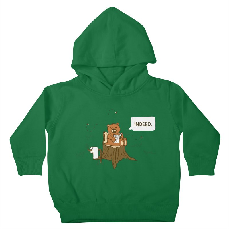 Bear Business Kids Toddler Pullover Hoody by Dannomyte's Artist Shop