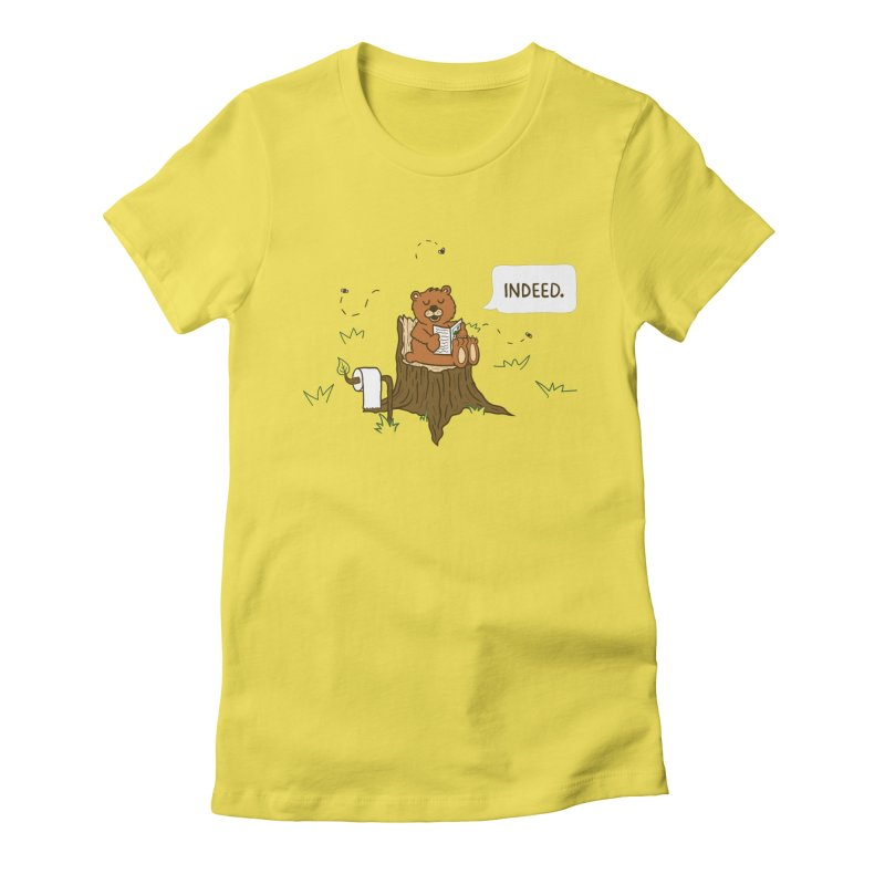 Bear Business Women's Fitted T-Shirt by Dannomyte's Artist Shop