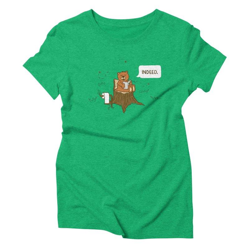 Bear Business Women's Triblend T-shirt by Dannomyte's Artist Shop