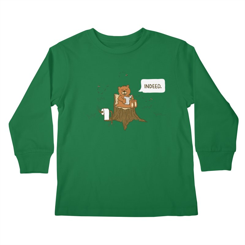 Bear Business Kids Longsleeve T-Shirt by Dannomyte's Artist Shop