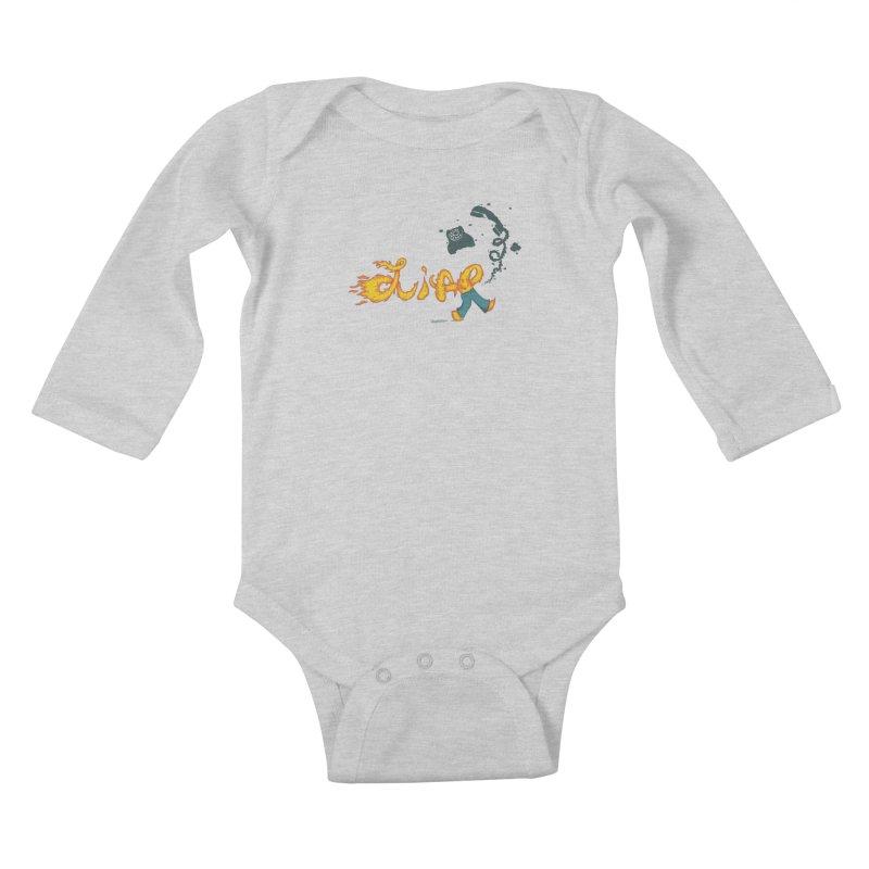 Pants on Fire. Kids Baby Longsleeve Bodysuit by Dannomyte's Artist Shop