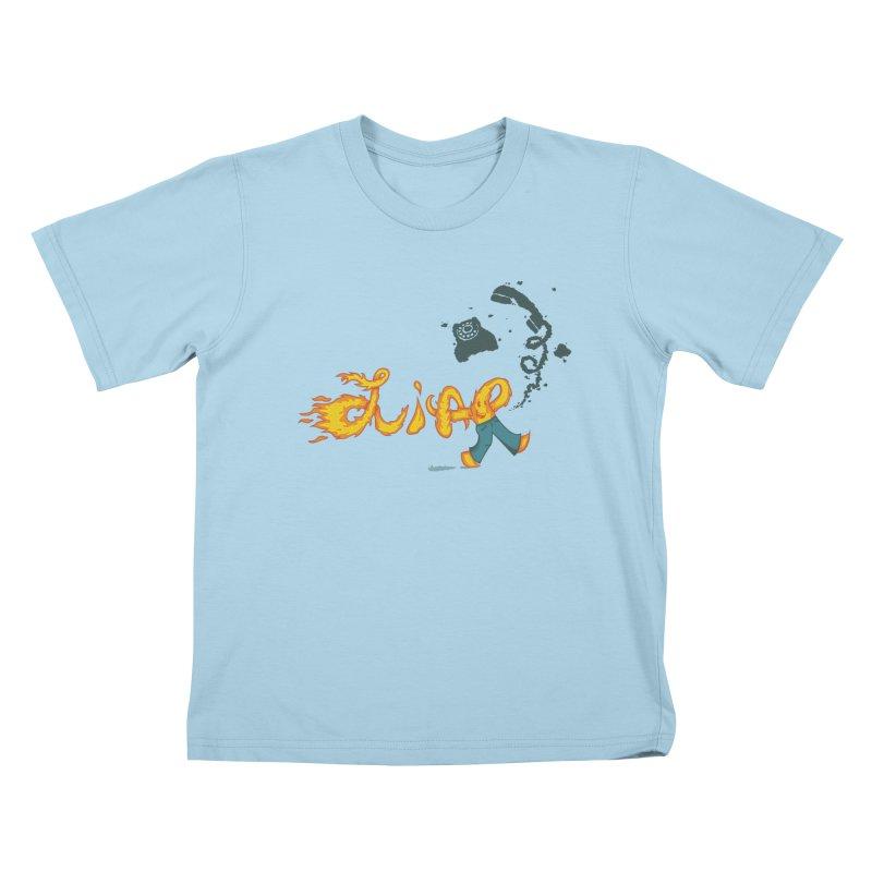 Pants on Fire. Kids T-shirt by Dannomyte's Artist Shop