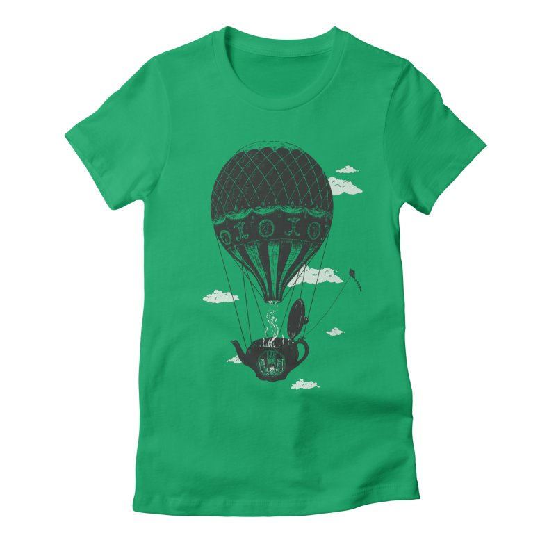 Balloon Women's Fitted T-Shirt by danrule's Artist Shop