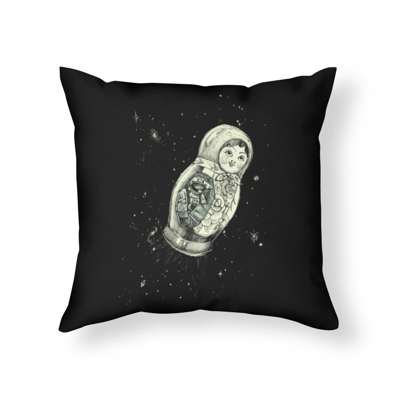 Cosmonaut Home Throw Pillow by danrule's Artist Shop