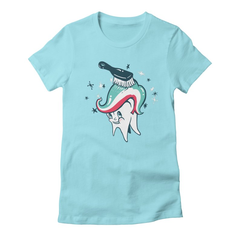 Toothbrush Women's Fitted T-Shirt by danrule's Artist Shop