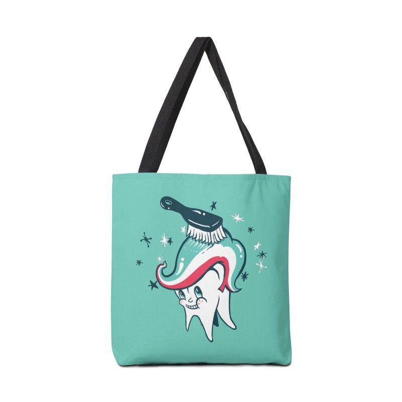 Toothbrush Accessories Tote Bag Bag by Dan Rule's Artist Shop